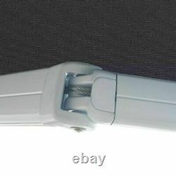 Manual Cassette Auvent Anthracite Retractable Canopy Shade Aluminium Cadre Patio