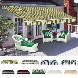 Nouveau 3x2,5m Auvent Manuel De Bricolage Rétractable Auvent De Jardin Canopy Patio Sun Shade Shelter