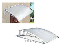 Nouveau Abri D'auvent D'extérieur Blanc Avant Porch Patio Rain Uv Protégé