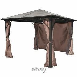 Outdoor Gazebo Luxury Garden Patio Pavilion Abri Tente Canopy Avec Rideau Royaume-uni