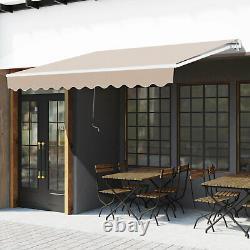 Outsunny 3 X 2m Cadre Extérieur Aluminium Auvent Jardin Shelter Patio Canopy Beige
