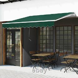 Outsunny 3 X 2m Cadre Extérieur En Aluminium Auvent Jardin Abri Patio Canopy Vert