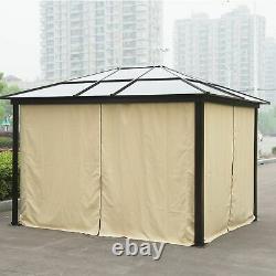 Outsunny 3x3.6m Aluminium Gazebo Canopy Patio Marquee Party Tent Jardin Extérieur