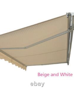 Outsunny Garden Sun Shade Canopy Patio Auvent Retractable Shelter Garden 3mx2,5m