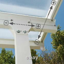 Palram Feria 3 Veranda Patio Couverture En Blanc, 3 X 4,25m