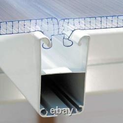 Palram Feria 3 Veranda Patio Couverture En Blanc, 3 X 5,46m