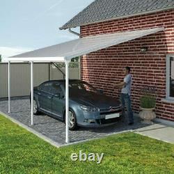 Palram Feria 3 Veranda Patio Garden Canopy Outdoor Cover In White, 3 X 6.10m
