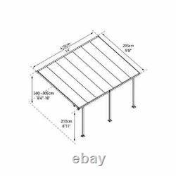 Palram Résistant À La Rouille Patio Cover Grey Aluminium Porc Porte Canopy Pergola Diy U