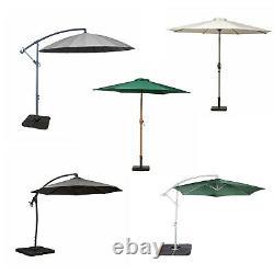 Parasols De Jardin De 2,5m 3m Parasols Extérieurs Parapluies De Patio De Cantilever Cran & Tilt Canopy