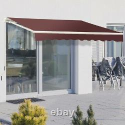 Patio Auvent Aluminium Frame Garden Sun Shade Fenêtre Sunshade Shelter