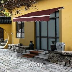 Patio Auvent Canopy Garden Sun Shade Retractable Shelter Top Fabric Outdoor Uk