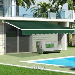Patio Auvent Rétractable Manuel Jardin Extérieur Cafe Shop Sunshade Shelter Canopy