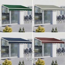 Patio Awning Manuel Garden Canopy Sunshade Abri Rétractable Extérieur Sun Shade