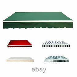 Patio De Jardin Auvent Manuel Canopy Sun Shade Shelter Retractable 4 Taille 5 Couleur
