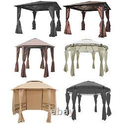 Patio Gazebo Avec Jardin Rideau Pavillon Marquee Tente Côtés Canopy Divers Type