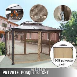 Patio Gazebo Hardtop Gazebo Avec Mosquito Netting 10x10 Ft Outdoor Gazebo Canopy