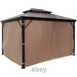 Patio Gazebo Hardtop Gazebo Avec Mosquito Netting 10x12 Ft Outdoor Gazebo Canopy