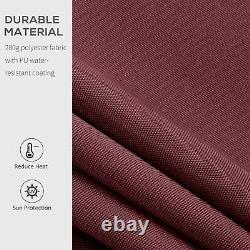 Patio Manuel Auvent Réglable Rétractable Été Canopy Shade Cran Red 3,95m