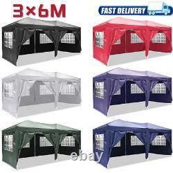 Pop Up Gazebo 3x6m Heavy Duty Waterproof Marquee Party Garden Patio Tente Canopy