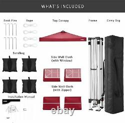 Pop-up Gazebo 3x3m Waterproof Marquee Garden Market Patio Canopy Tente Outdoor Uk