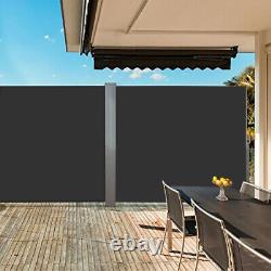 Roll Retractable Garden Side Auvent Blind Écran Canopée Sunshade Patio Outdoor