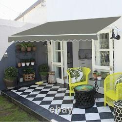 Royaume-uni Auvent Rétractable Manuel Jardin Extérieur Canopy Patio Sun Shade Shelter Bricolage